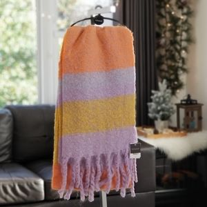 NEW! Topshop Heavy Stripe Knit Scarf Multi Color